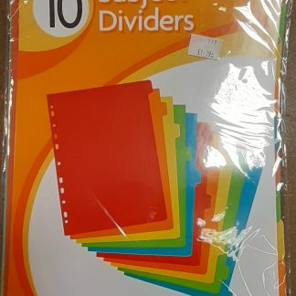 Subject Dividers 10
