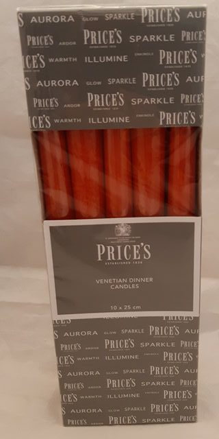 Price venetian dinner candle red